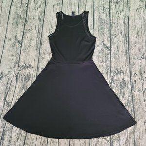 H&M Basic XS Black Mini Dress with Lace Sleeveless